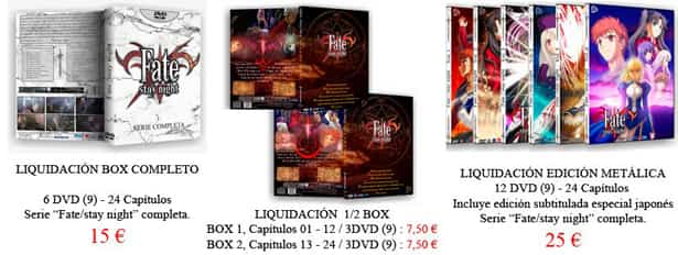 stock del anime FateStay Night